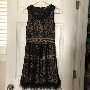 Black/Nude Lace Dress